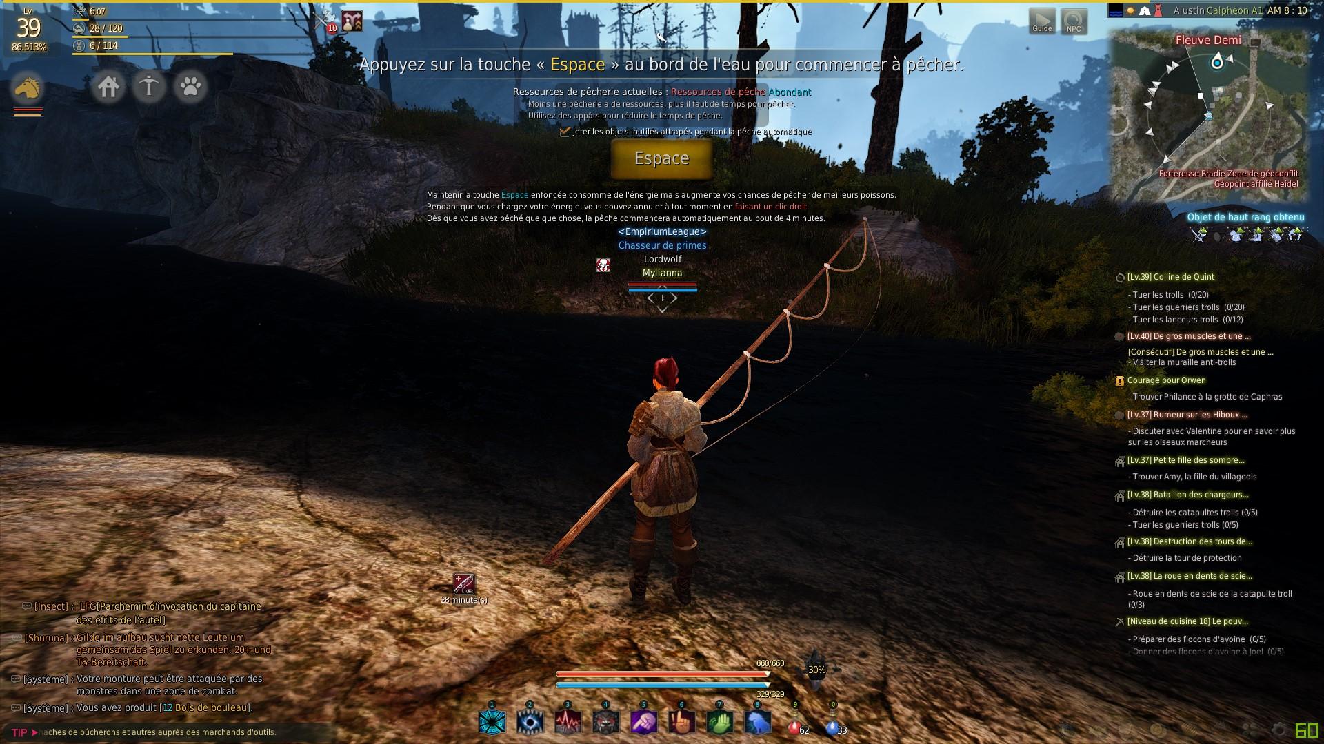 Le jeu la pêche réelle sur quoi attraper le goujon